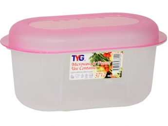 Oval Microwave Container, Code: 3712
