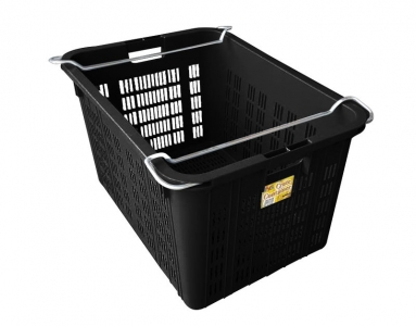 Vegetable and Fruit Crate, Code: ID 4720 (Black)