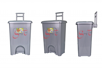 Handy Step Dustbin with Wheel, Code: 1005