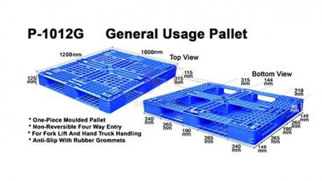 Plastic Pallet Code: P1012-G