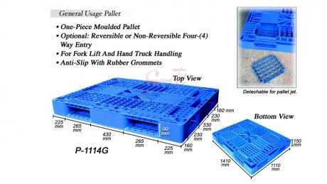 Plastic Pallet Code: P1114-G