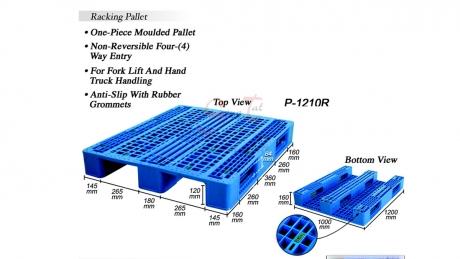 Plastic Pallet Code: P1210-R