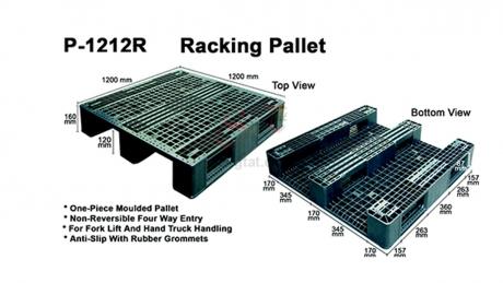 Plastic Pallet Code: P1212-R